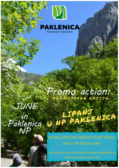 Promo action: June in Paklenica National Park